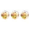 Swarovski Bead 5000 Round 10mm Metallic Sunshine Crystal